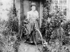 170-tran : Lady Cyclist at Brook Farm 1920s