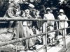 48-fam: Group on Bridge over river in the mid 1930s;