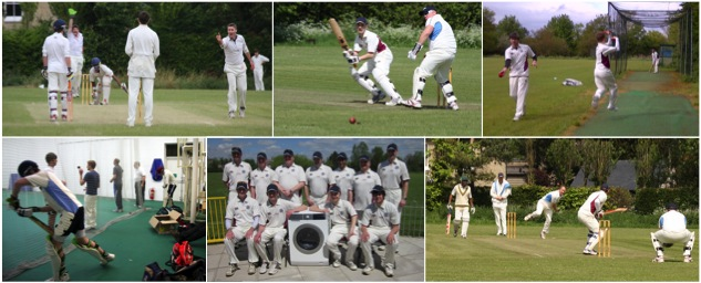 Haslingfield cricket club banner