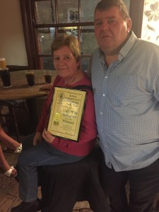 Landlords Neil and Sue with their Award
