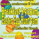 Easter breakfast & egg hunt poster 2017