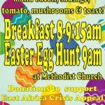 Easter breakfast & egg hunt poster 2017