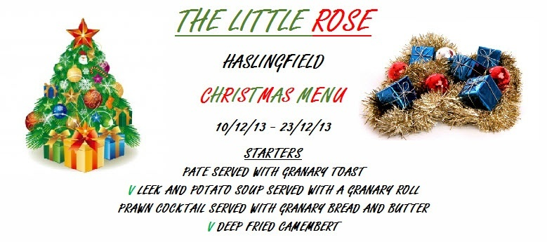 Little Rose Christmas menu 1